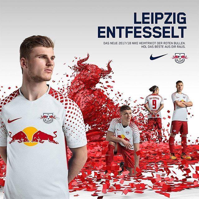 Red Bull Leipzig 2017 2018 Home Kit  80f7904c5