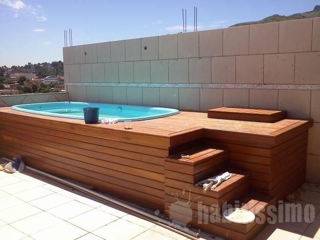 Deck de piscina terraza pinterest piscinas terrazas for Mini albercas