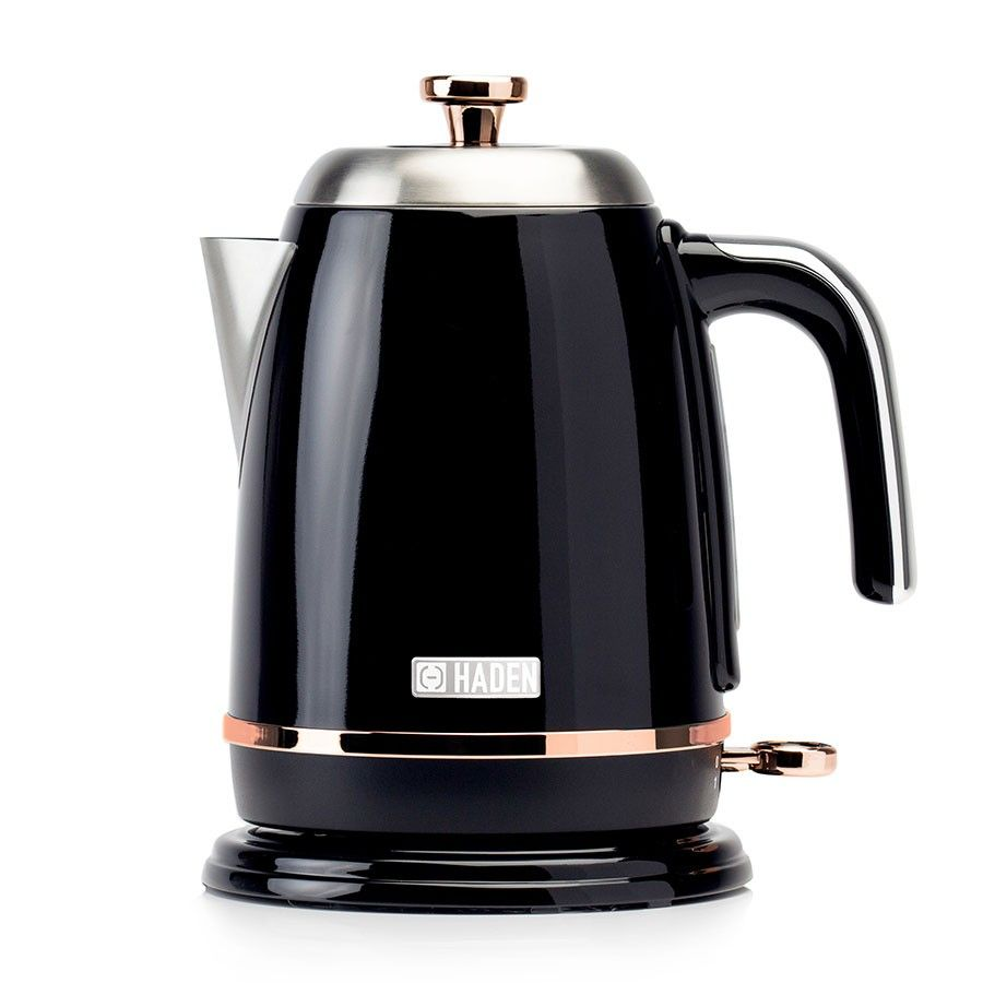 Haden Salcombe 1 7l Kettle Black With Copper Detail