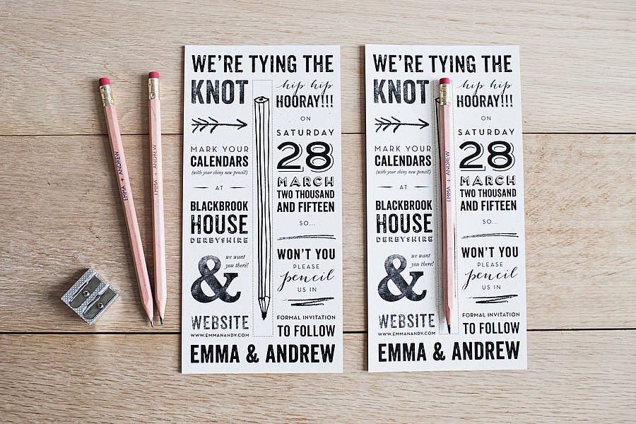 Pencil Us In Save The Date Gold Foil Www Emmajo Co Uk