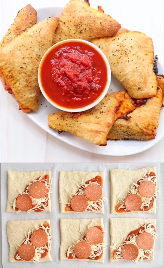 Easy Cheesy Homemade Pizza Pockets