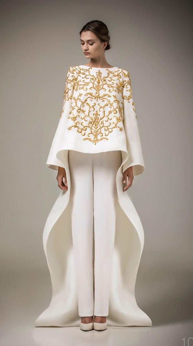 Cheap ashi studio gold embroidery evening gown long sleeves a