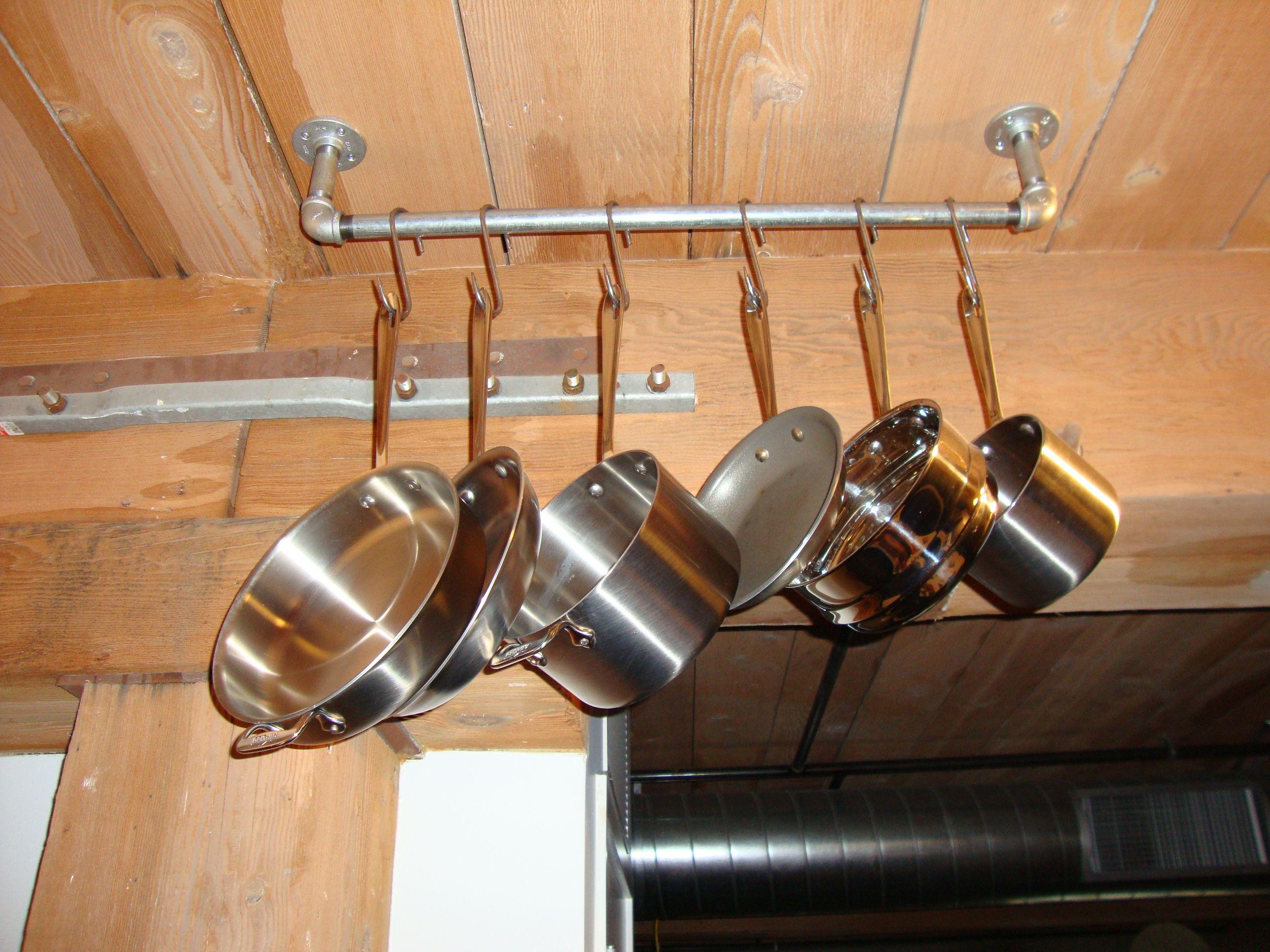 Homemade Pot Rack