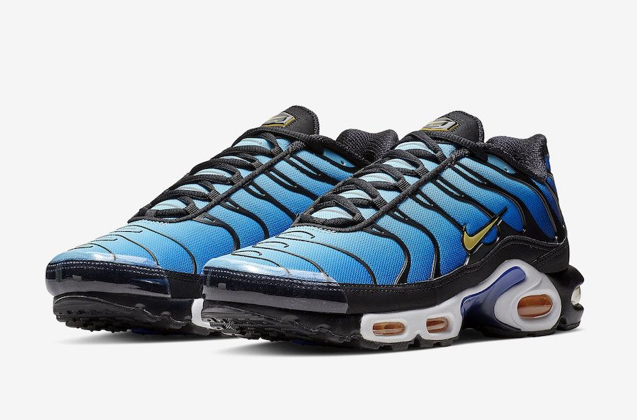 a6e802199c27 Nike Air Max Plus (Black Chamois Sky Blue Hyper Blue)