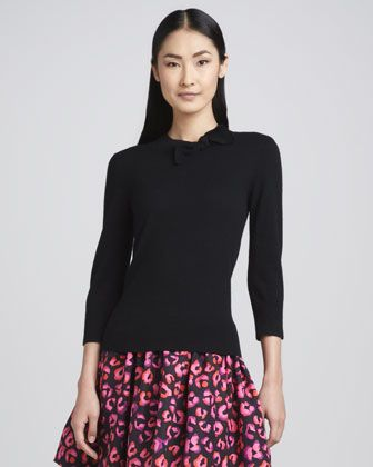 bow-neck sweater. kate spade.