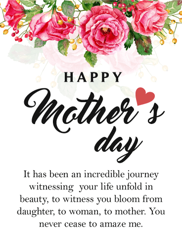 Thoughtful Happy Mother S Day Card For Daughter Motherhood Blooms And Unfolds Like Happy Mother Day Quotes Happy Mothers Day Daughter Happy Mothers Day Wishes