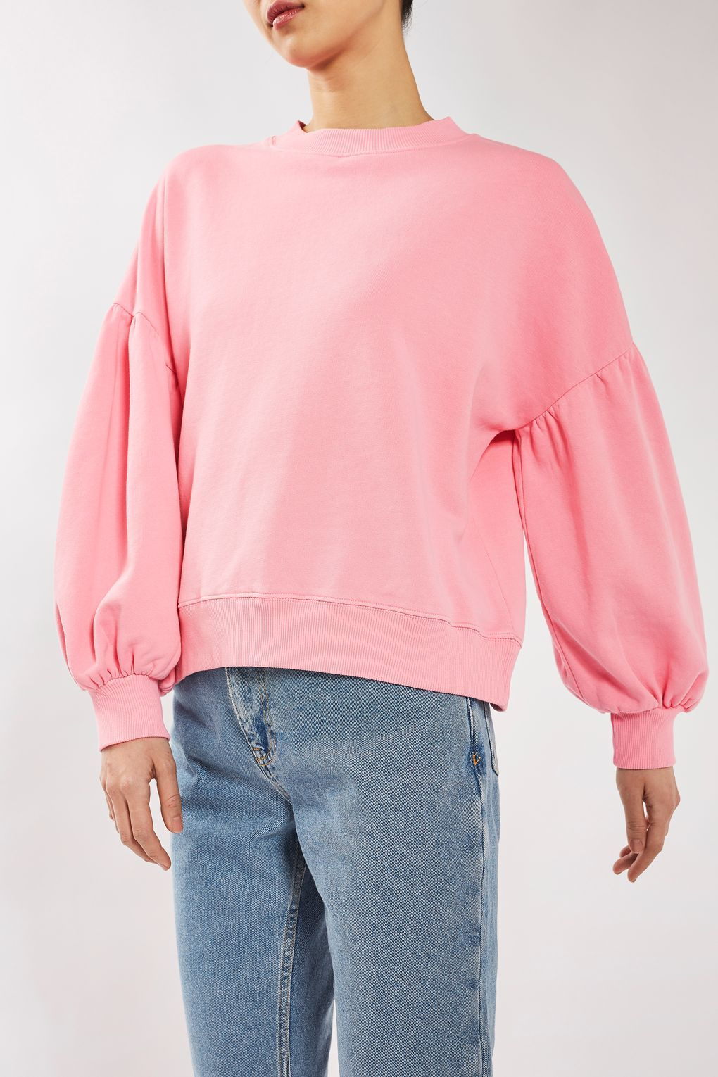 TOPSHOP Balloon sleeve cotton jumper KEVIXT