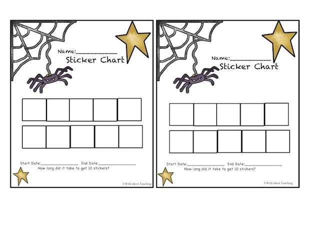 October sticker chart printable....for