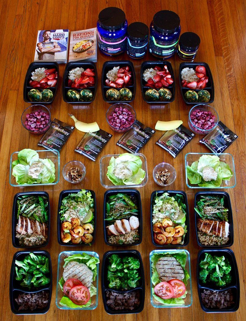 22 Minute Hard Corps Meal Plan at the 1,200–1,500 Calorie Level