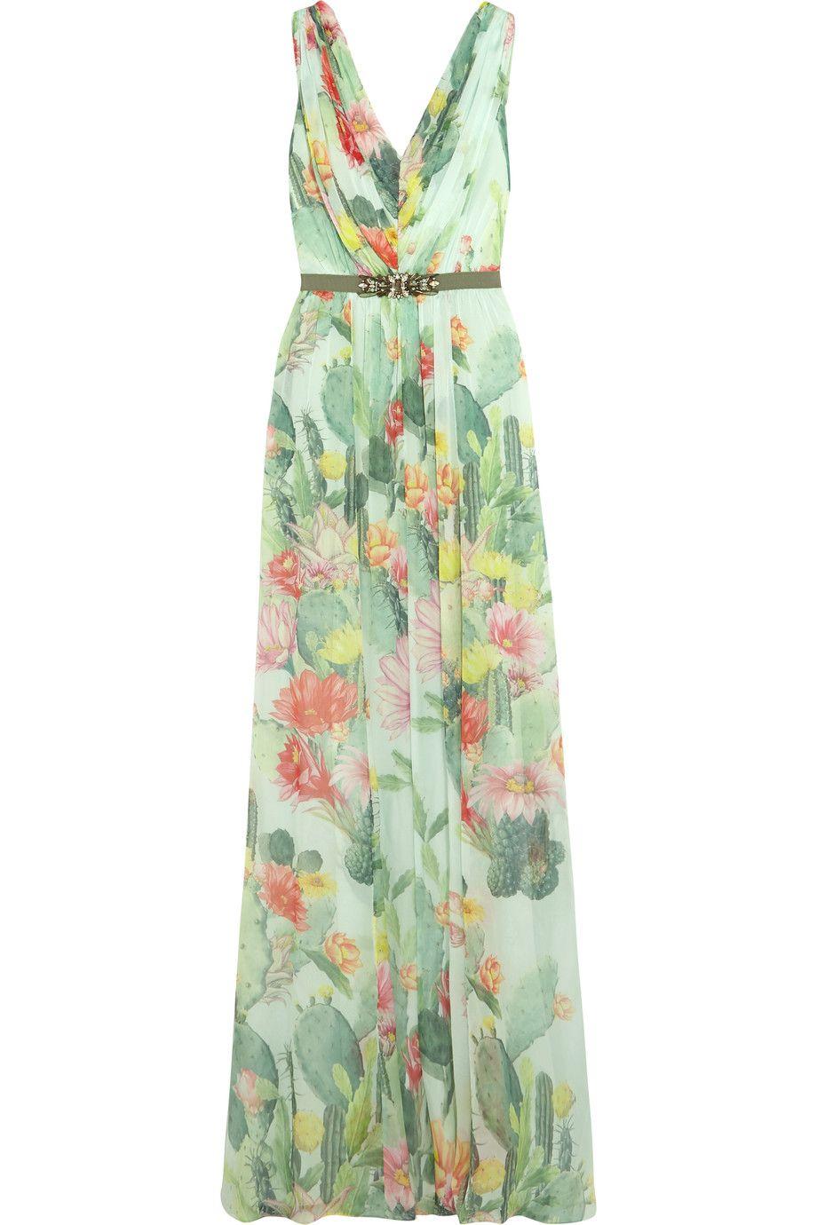 Shop onsale matthew williamson embellished floralprint silk