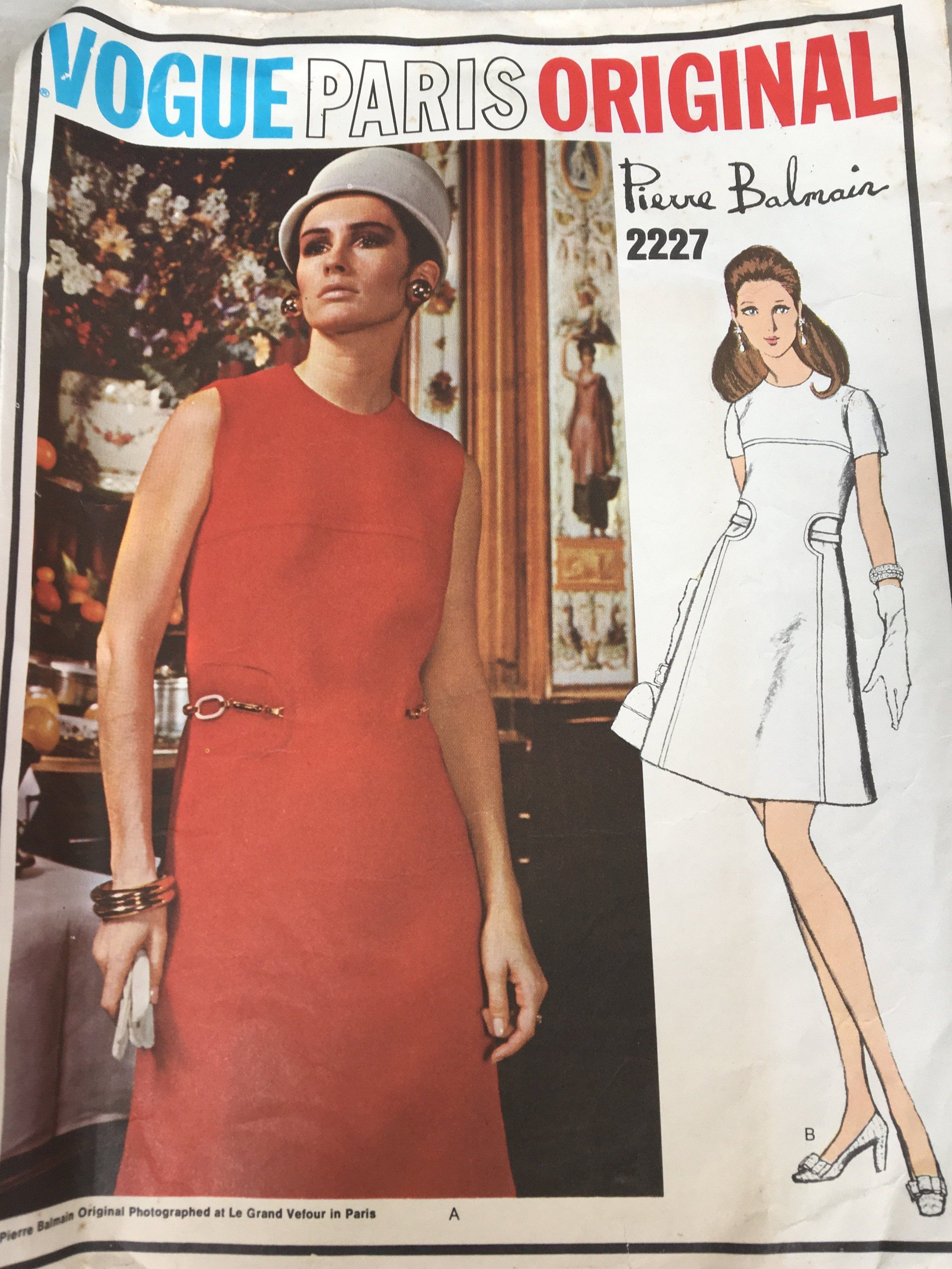 S vogue sewing pattern misses onepiece evening dress by