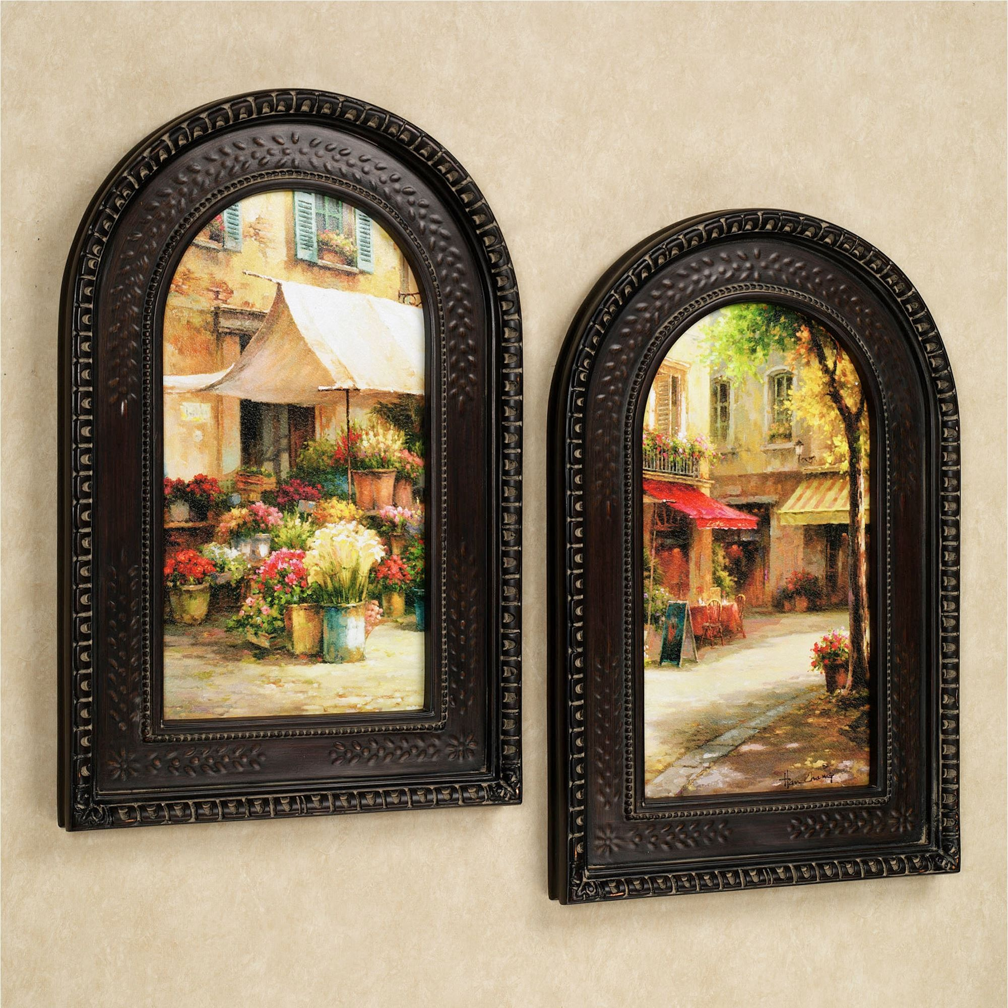 The Flower Market Arched Framed Wall Art Set | Framed art prints ...