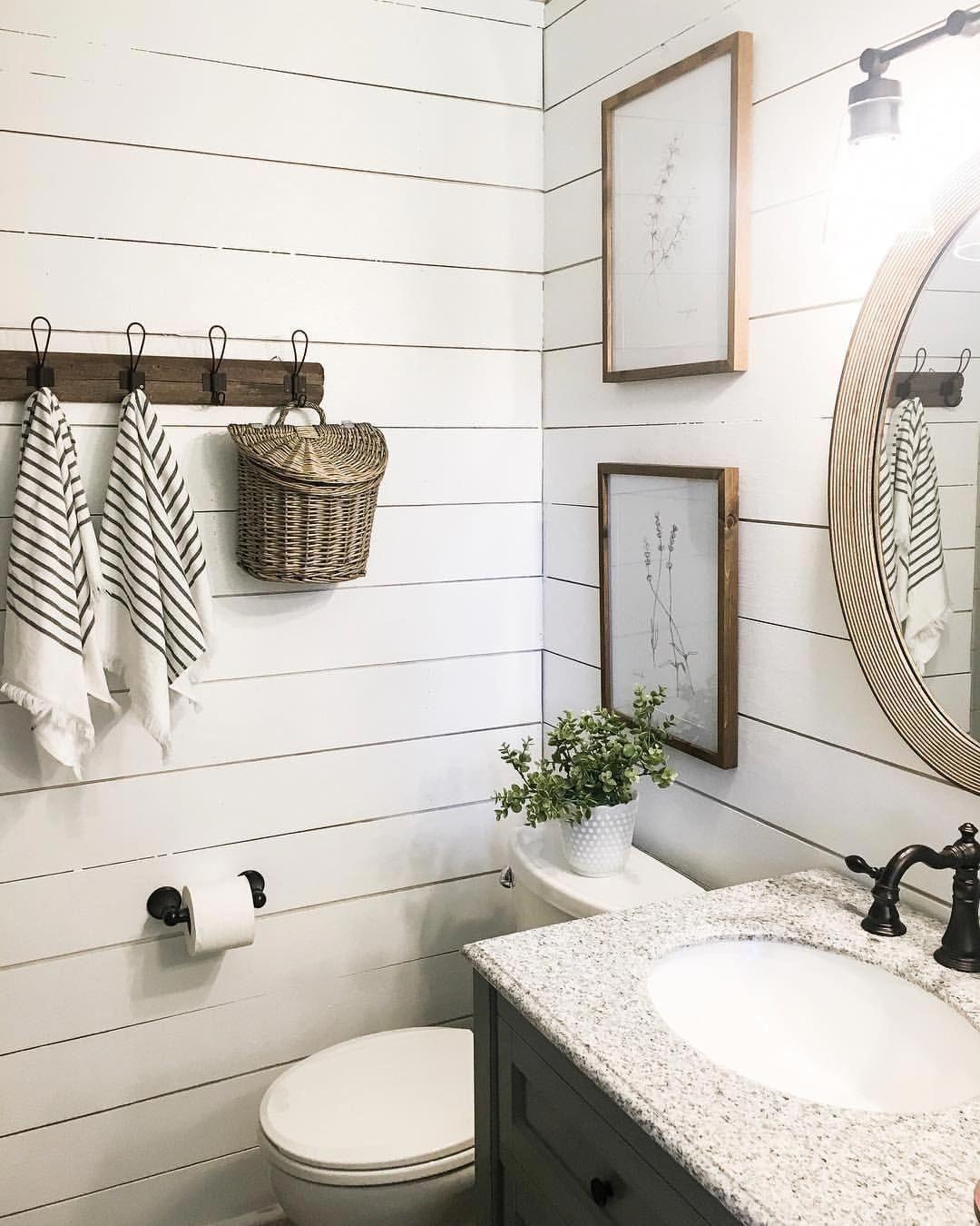 Explore Wood Plank Walls Bathroom Half Baths On Pinterest See More Ideas About Best Bathroom Backspl Plank Wall Bathroom Small Bathroom Bathrooms Remodel