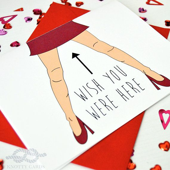 Funny Naughty Card Birthday Card I Miss You Card by ...