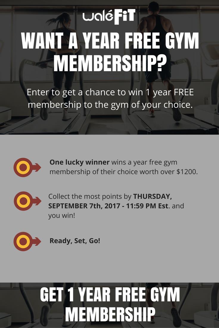 Win A Year Free Gym Membership