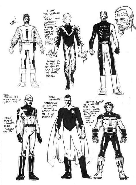 Legion of Super-Hero Character Sketches | CHARACTER SKETCHES