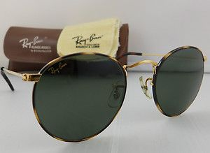 70b6be489f V RARE Tortuga Lennon Style B L Ray Ban USA Round Metal Sunglasses Case