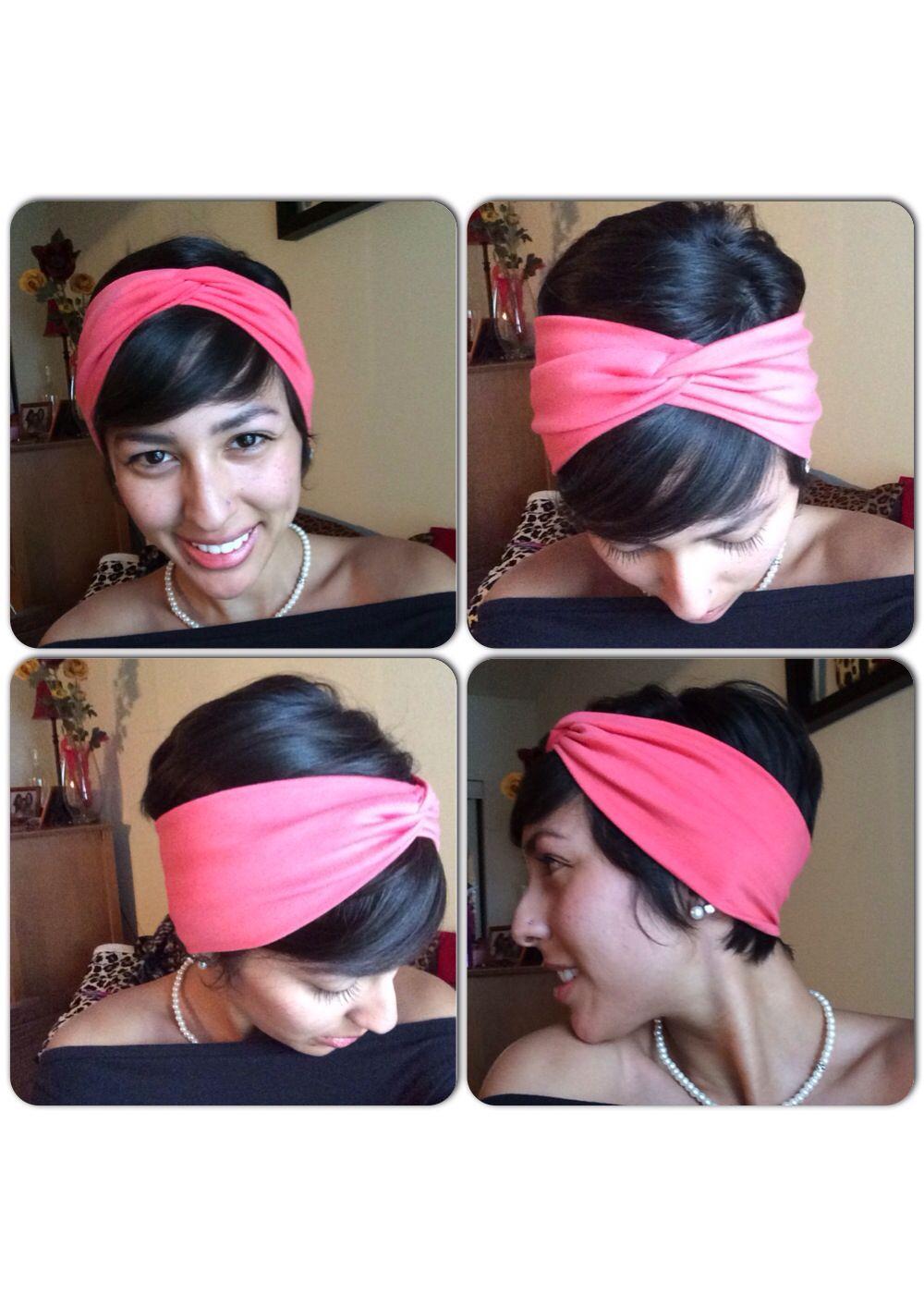 Styling a pixie cut with a headwrap headband hairband hair styles