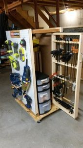 Photo of RYOBI NATION – Rolling Pegboard Storage  12 Brilliant Tool Organization Ideas – …
