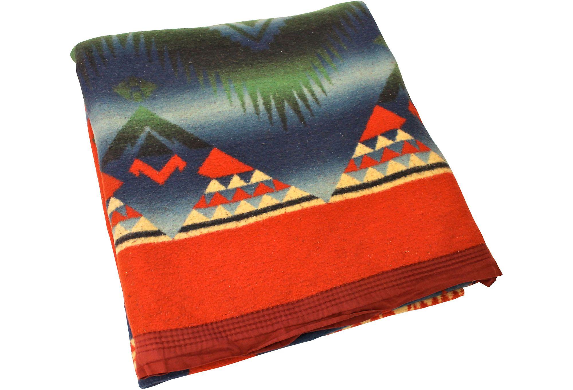 Vintage Camp Blanket Textiles Camping