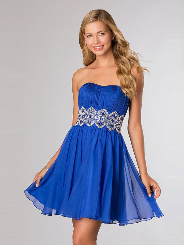 2014 Style A-line Strapless Rhinestone Homecoming Dresses/Cocktail Dresses #GC503  http://www.beckydress.com/2014-style-a-line-strapless-rhinestone-homecoming-dresses-cocktail-dresses-gc503.html