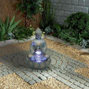 Boeddhabeeld Met Fontein.Boeddha Fontein Met Verlichting Boedha S Buddha Zen