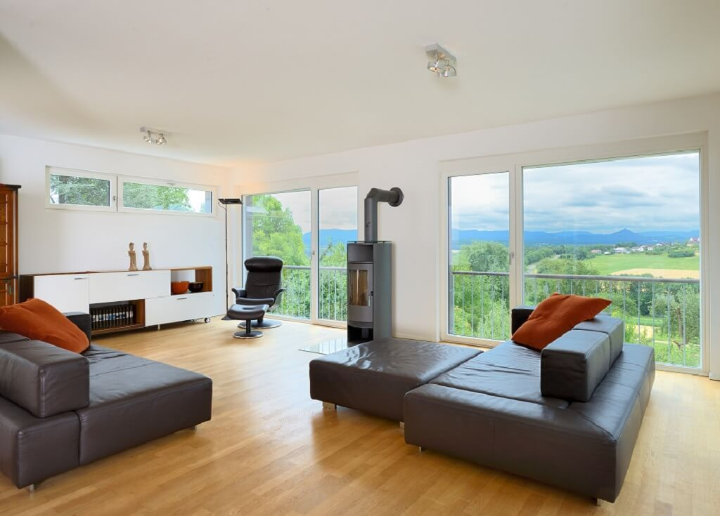 Attraktiv Interior Wohnzimmer Ideen Mit Kamin   Inneneinrichtung Haus Wiesenhütter  Baufritz Fertighaus   HausbauDirekt.de