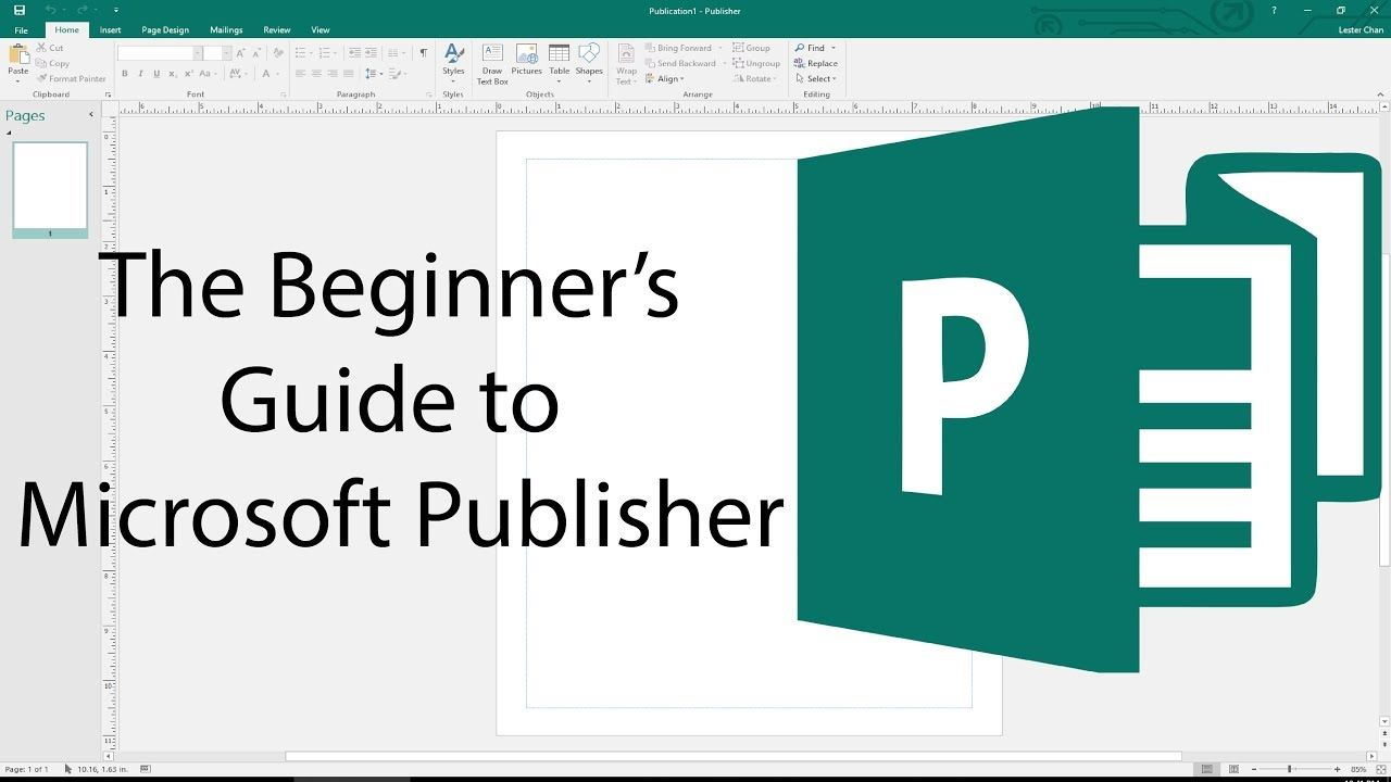 The Beginner S Guide To Microsoft Publisher 2018 Tutorial Microsoft Publisher Microsoft Publishing