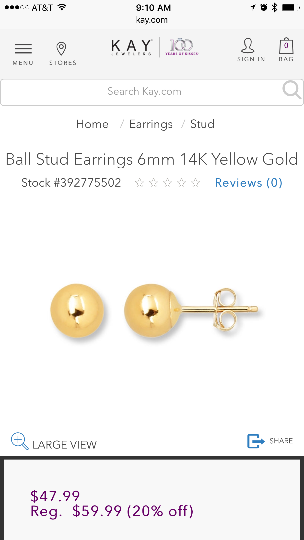 04bcfddf05347d Want some yellow gold stud earrings. Not really picky on size of the ball  stud. Here is an example of what I'm looking for at Kay's.