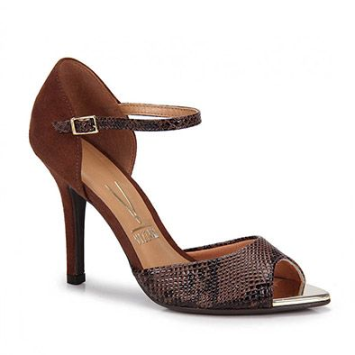 a7dbb64d68fb84 Sandália Salto Vizzano 6259100 - Chocolate | I ❤ shoes | Sandalia ...