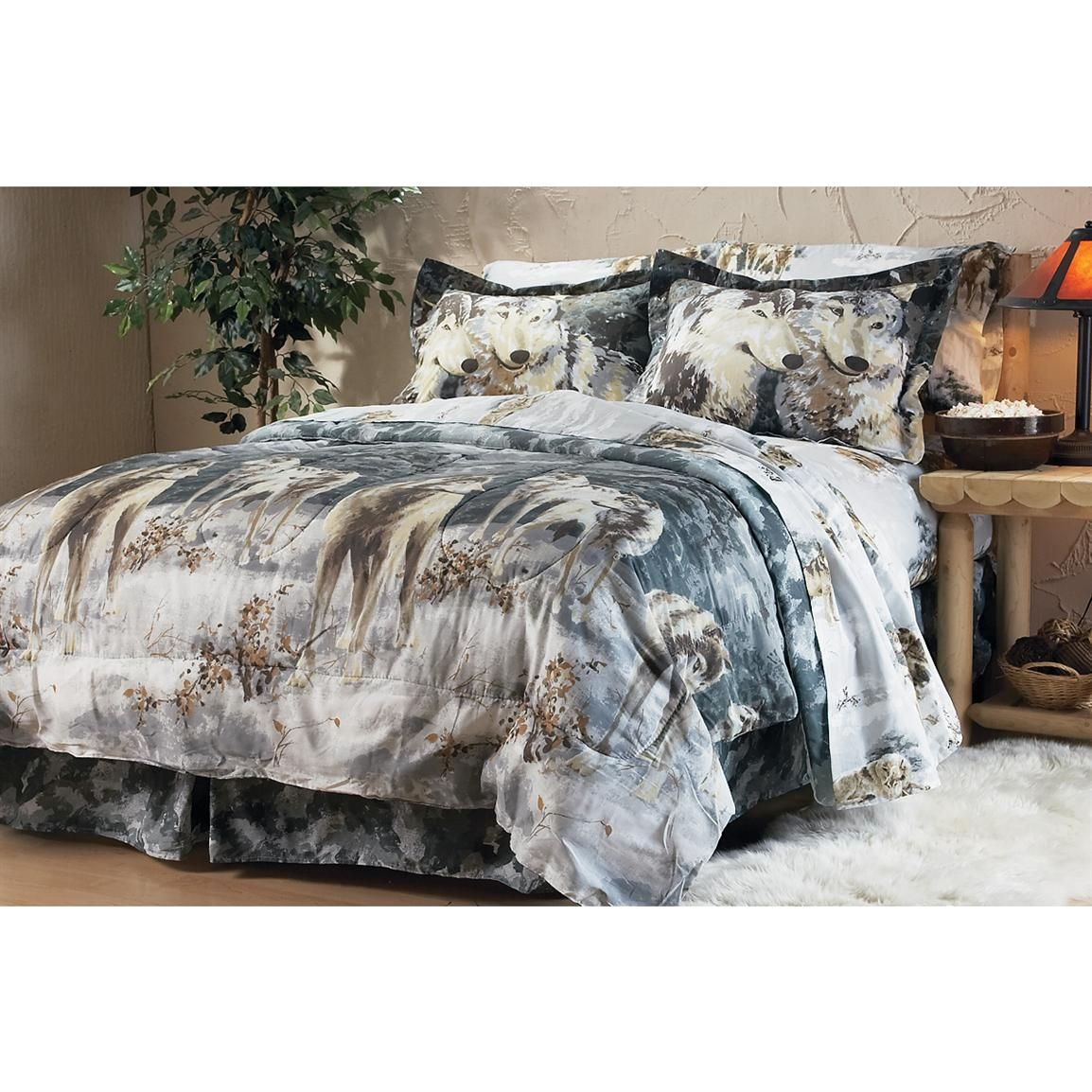 Gray Wolf Pack Bed In A Bag Comforter Set Full Bedding Sets Bedding Sets Queen Bedding Sets
