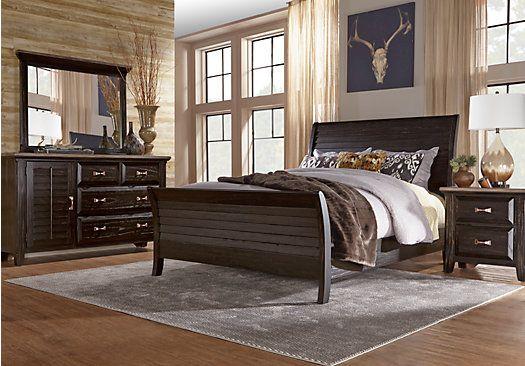 picture of Belmar Queen Black 5Pc Panel Bedroom from Queen Bedroom