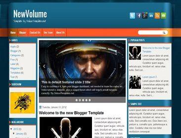 NewVolume Blogger Template