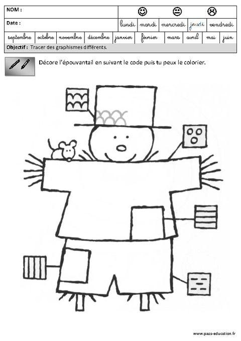 Bien-aimé Fiches pédagogiques - Exercices - Graphisme – Maternelle – Grande  DC56