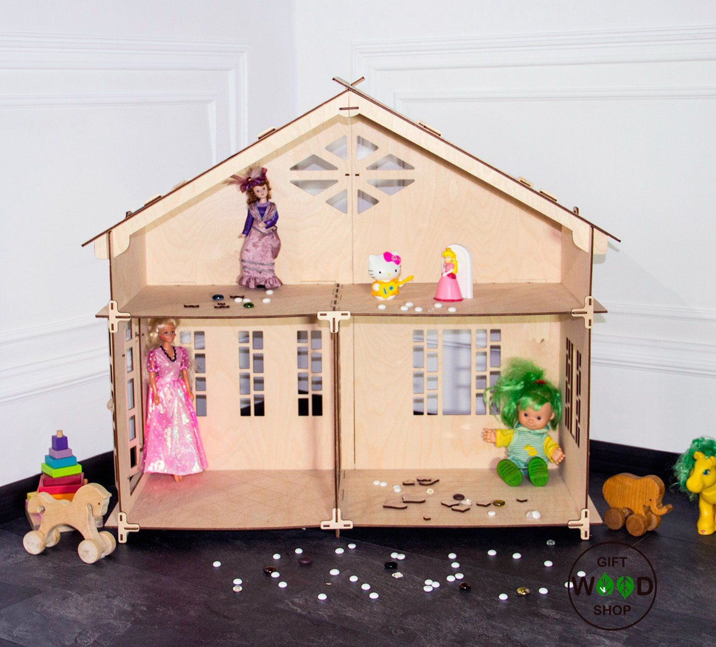 Unassembled 2 story Doll HouseHouse for BarbieDollhouse