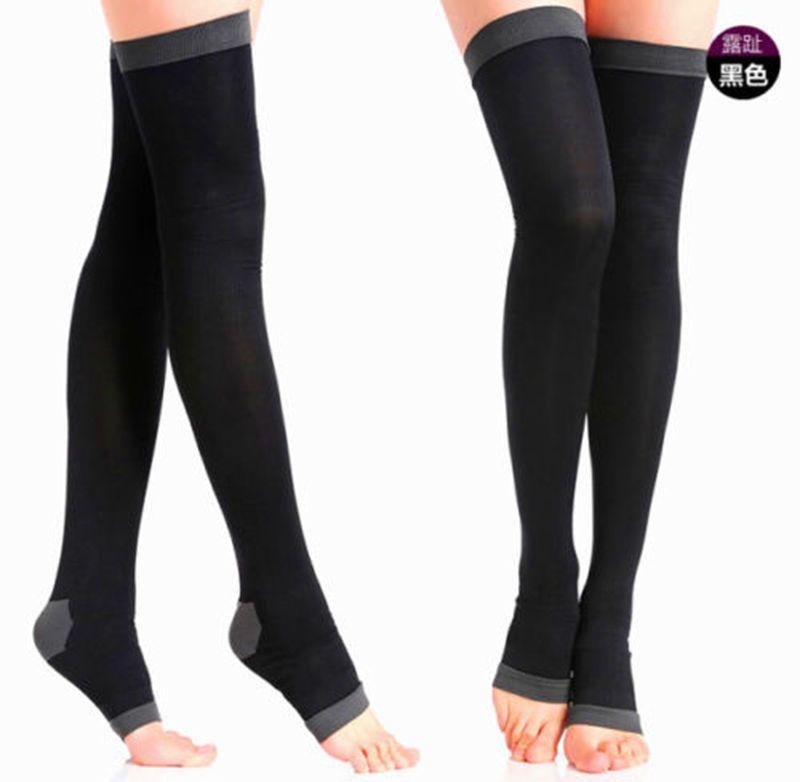 e8eb14cb6f $3.69 - Women Compression Stockings Socks Slim Leg Varicose Veins  Circulation Black #ebay #Fashion