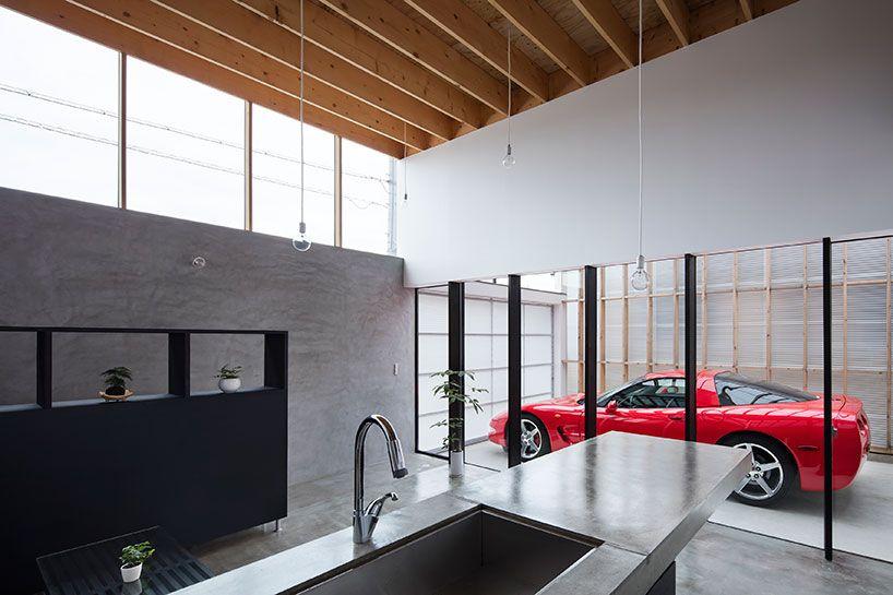 Garage Terrace House In Kyoto By Yoshiaki Yamashita Garage Design Japanese House House Design