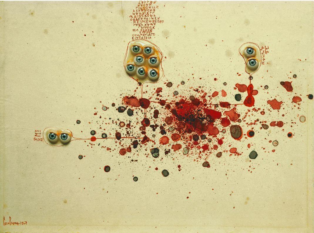 Carol Rama, Bricolage, 1967 | Artribune