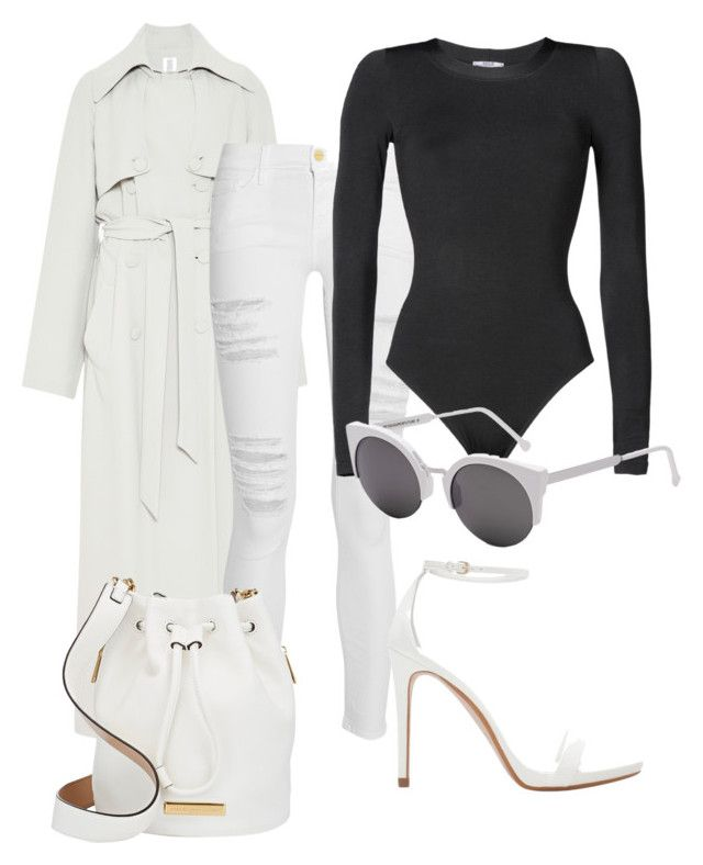 """""""Untitled #92"""" by iahast on Polyvore featuring Rosie Assoulin, Frame Denim, Wolford, Zara, RetroSuperFuture and Marc by Marc Jacobs"""