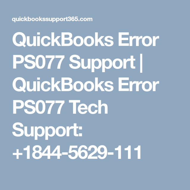 Quickbooks payroll error ps077