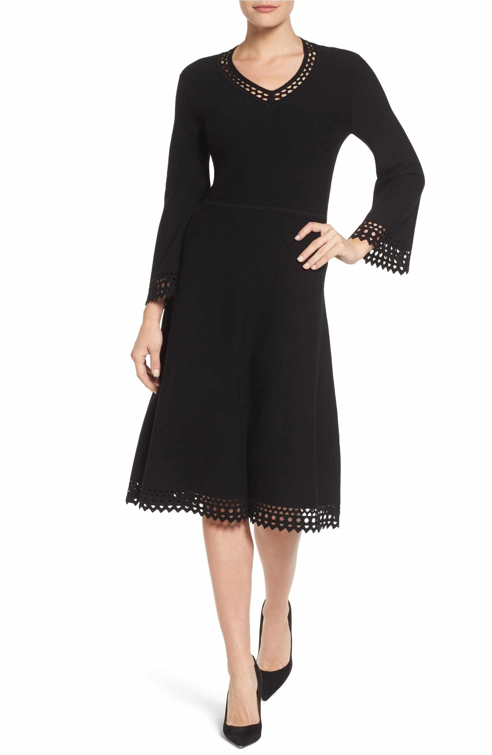 32d480fbf40 Main Image - Emerson Rose Cutout Fit   Flare Sweater Dress
