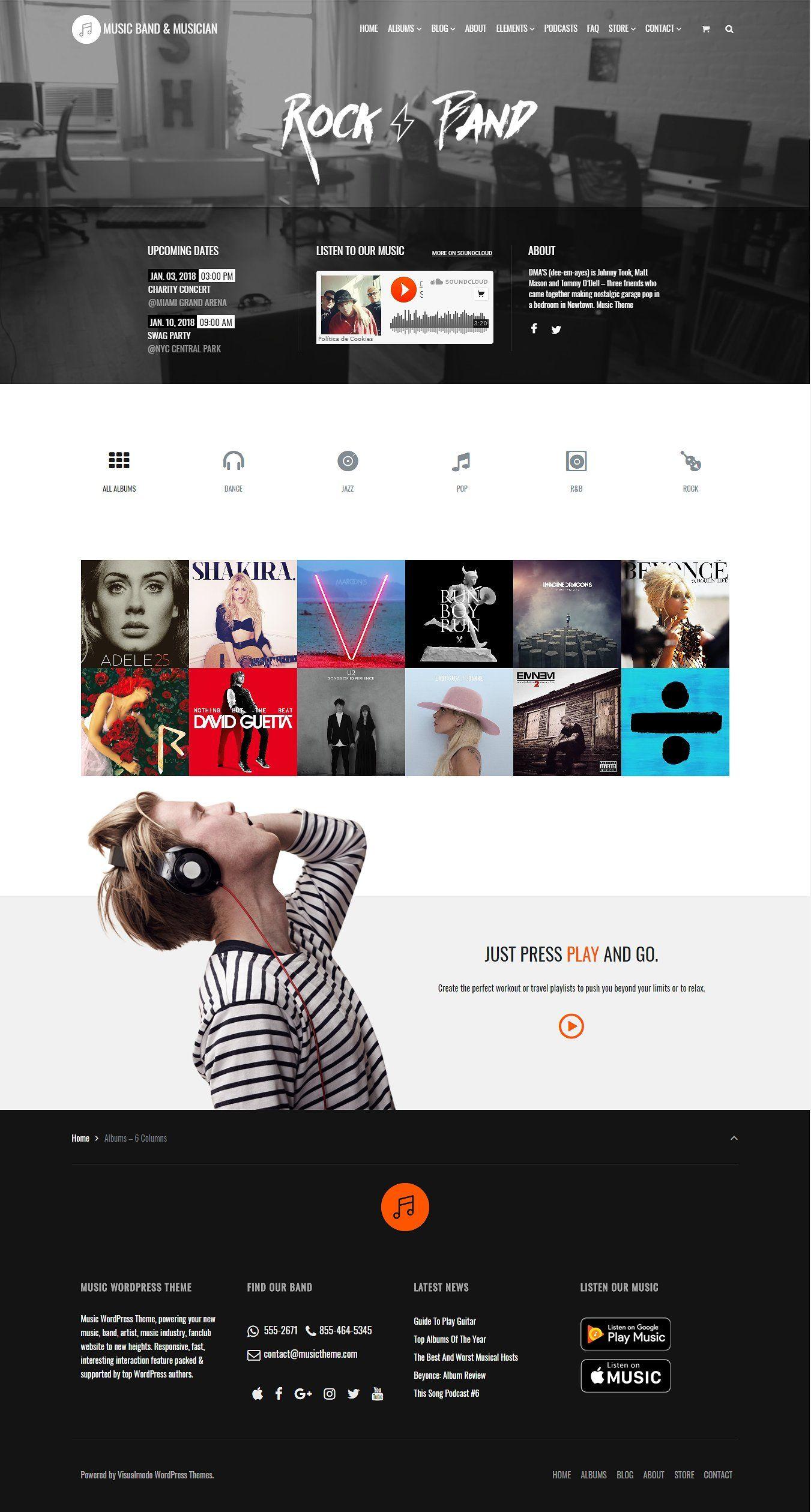36 Wordpress Themes Mega Bundle Music Wordpress Themes Wordpress Website Design Blog Themes Wordpress