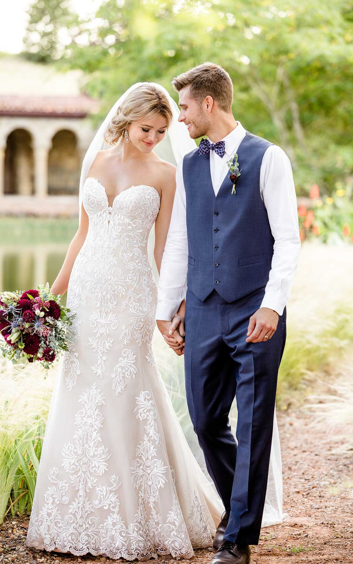 Romantic vintage lace wedding gown one day pinterest