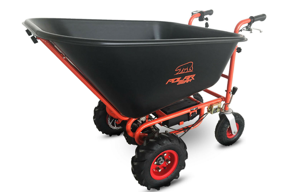 Electric Wheelbarrow 350w 24v Polar Bear Cat Forward Reverse Drive Heavy Duty 8800200372738 Ebay In 2020 Electric Wheelbarrow Wheelbarrow Powered Wheelbarrow