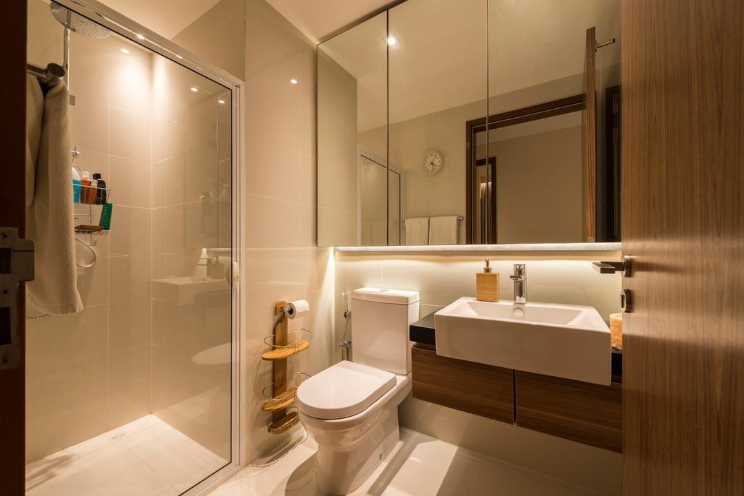 Check Out This Contemporary Style Condo Bathroom And Other Similar Styles On Qanvast Condo Bathroom Singapore Bathroom Design Interior Design Singapore