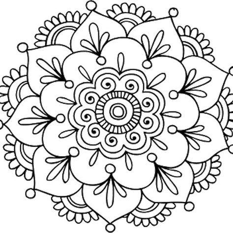 Simple Mandala Flower Mandala Coloring Pages Simple Mandala Mandala Drawing