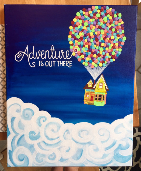 Adventure Is Out There Pixars Up Painting By DaisyDesign3 On Etsy