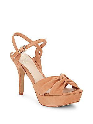 Vince Camuto Philicia Suede Sandals - Rosewood - Size 10