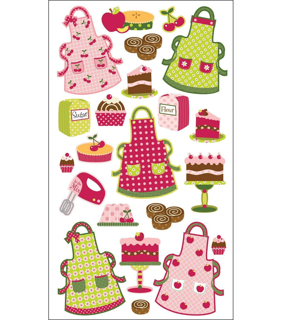 Sticko Sparkler Classic Stickers-Patterned Aprons