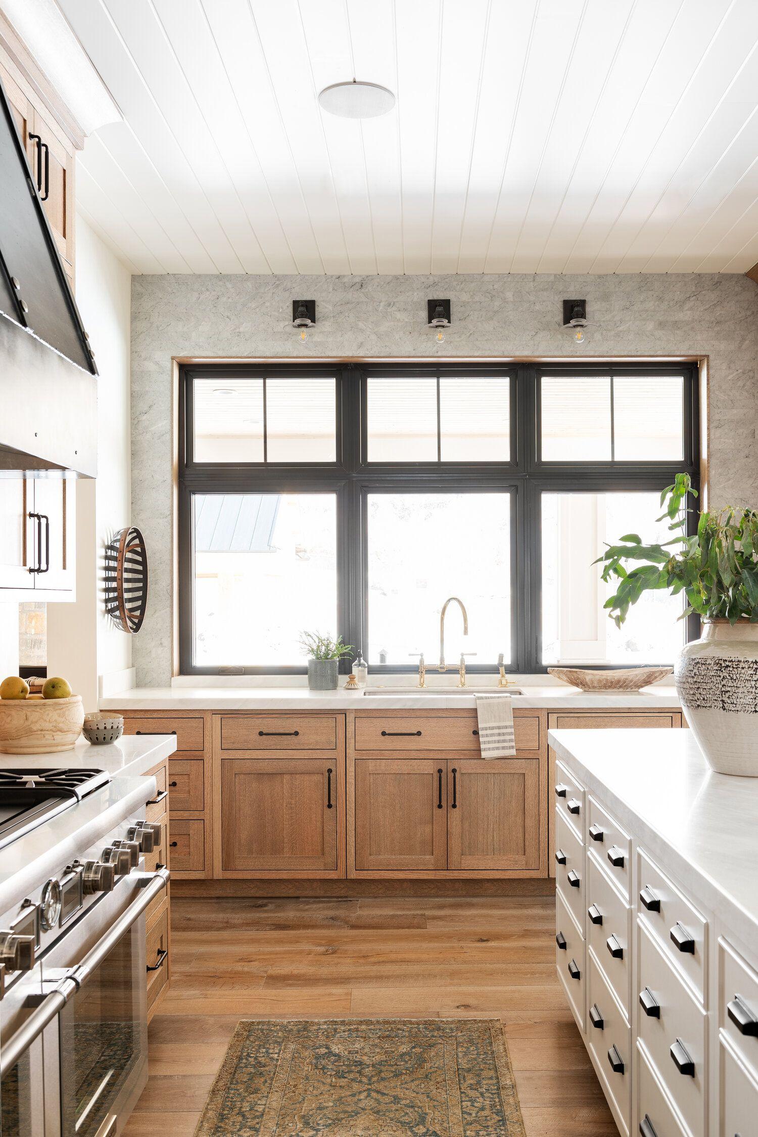 Deco Cuisine Blanche Et Bois natural wood kitchen design | cuisines maison, armoire de